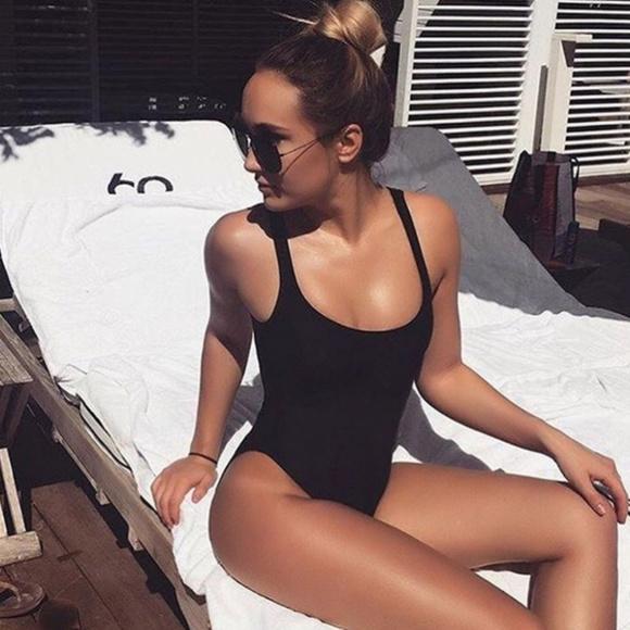 b2209f1f1c Dixperfect Black High Cut Retro 1-Piece Swimsuit